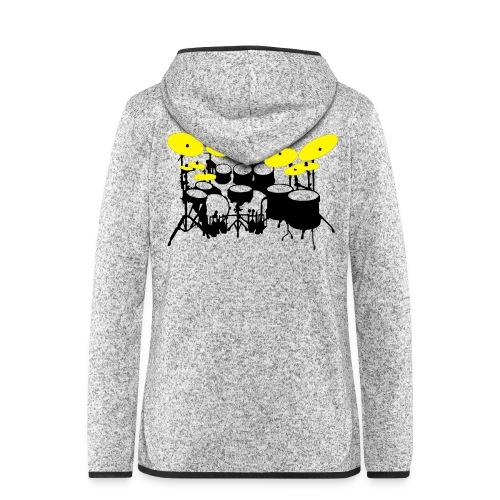 Drums White - Giacca di pile con cappuccio da donna