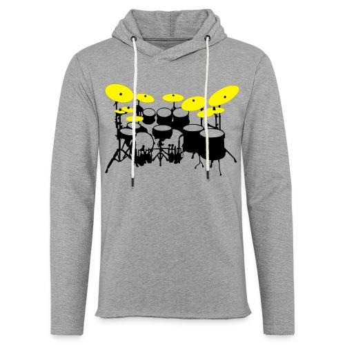 Drums White - Felpa con cappuccio leggera unisex