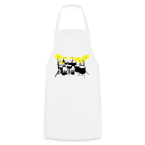 Drums White - Grembiule da cucina