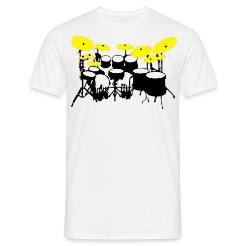 Drums White - Maglietta da uomo