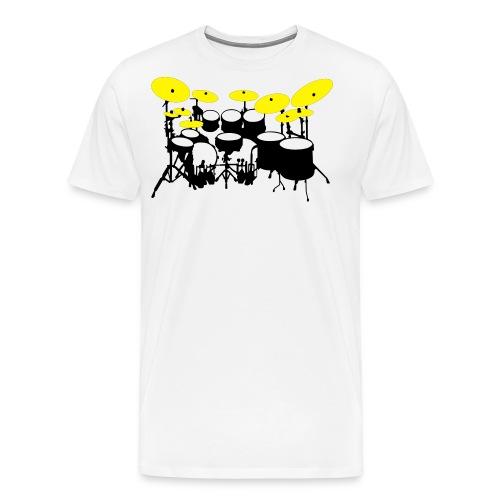Drums White - Maglietta Premium da uomo