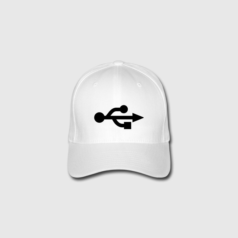 Red USB Logo - Nerd - Geek Caps & Hats - Flexfit Baseball Cap
