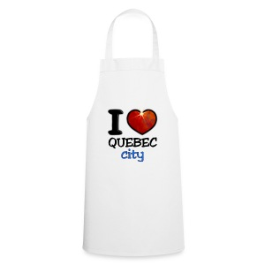 Tablier de cuisine - I,I love,Love,city,coeur,heart,quebec,tasse