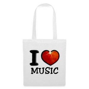 Tote Bag - I,I love,Love,coeur,cup,heart,music,musique,tasse