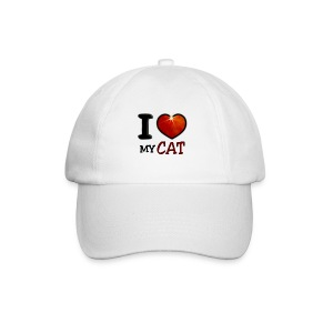 Casquette classique - I,I love,Love,cat,chat,chatte,coeur,cup,heart,my cat,tasse