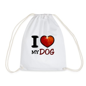 Sac de sport léger - I,I love,Love,chien,chiens,coeur,cup,dog,heart,tasse