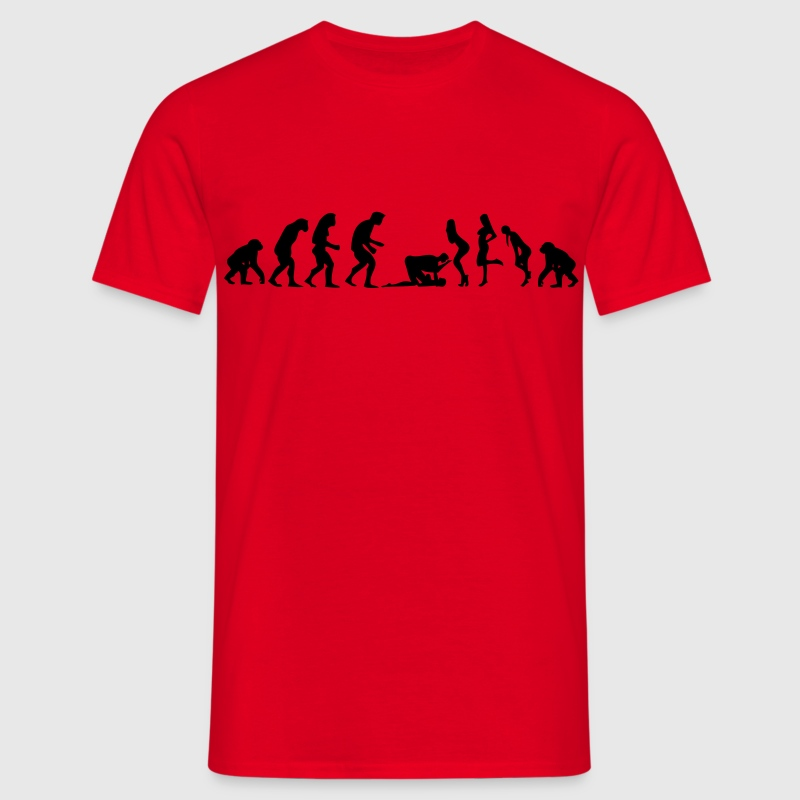 Evolution Man Woman kamasutra position the - Men's T-Shirt