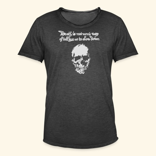 Death is, Geisterstunde - Männer Vintage T-Shirt