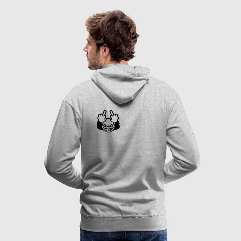 Nasty Emoticon (fuck off / fuck you, 1C)  Hoodie - Men's Premium Hoodie