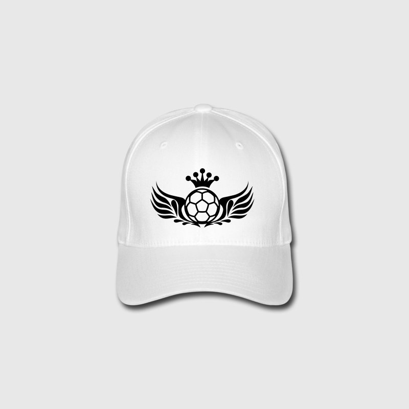 fußball logo wings and crown Caps & Mützen - Flexfit Baseballkappe