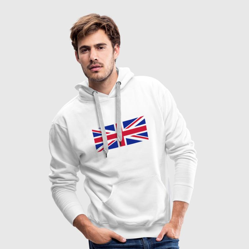 flag english drapeau anglais union Jack Sweat-shirts - Sweat-shirt à capuche Premium pour hommes