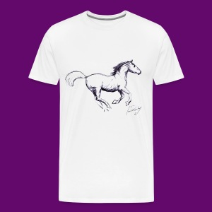 CHEVAUX (dessin de Louis RUNEMBERG artiste peintre) - T-shirt Premium Homme