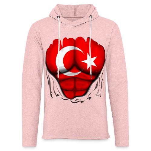 Turkey Flag Ripped Muscles, six pack, chest t-shirt - Light Unisex Sweatshirt Hoodie