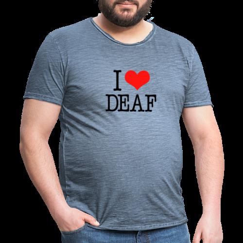 Ich liebe Deaf - Männer Vintage T-Shirt