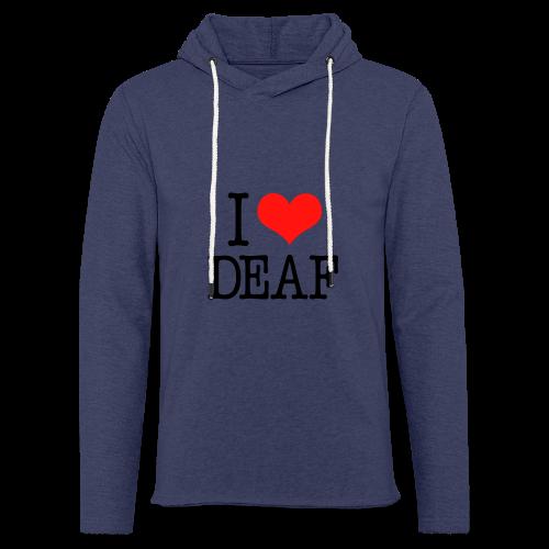Ich liebe Deaf - Leichtes Kapuzensweatshirt Unisex