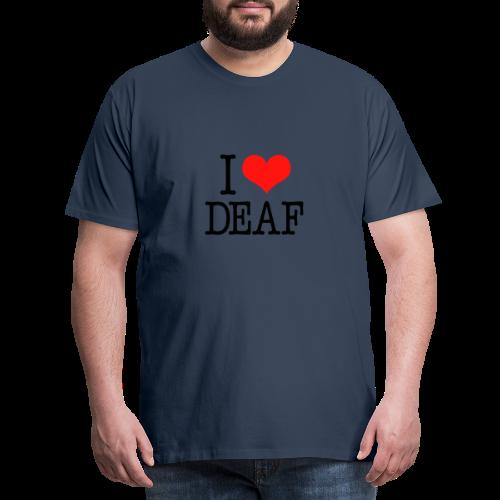 Ich liebe Deaf - Männer Premium T-Shirt