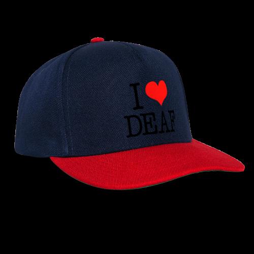 Ich liebe Deaf - Snapback Cap