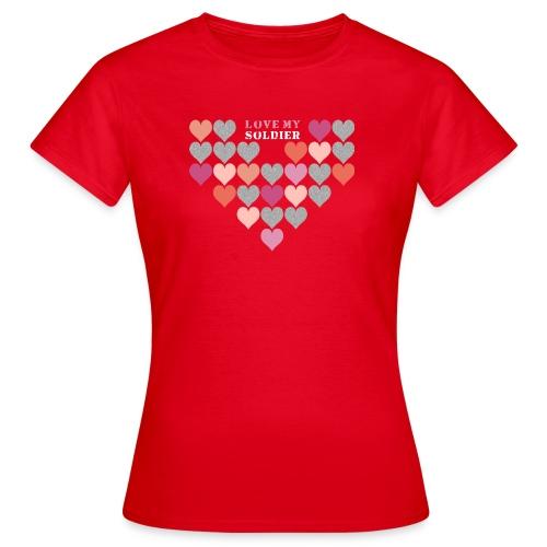 Stofftasche Love My Soldier - Frauen T-Shirt