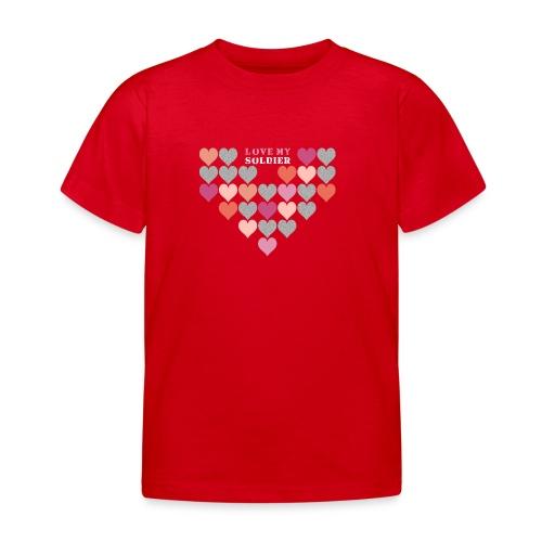 Stofftasche Love My Soldier - Kinder T-Shirt