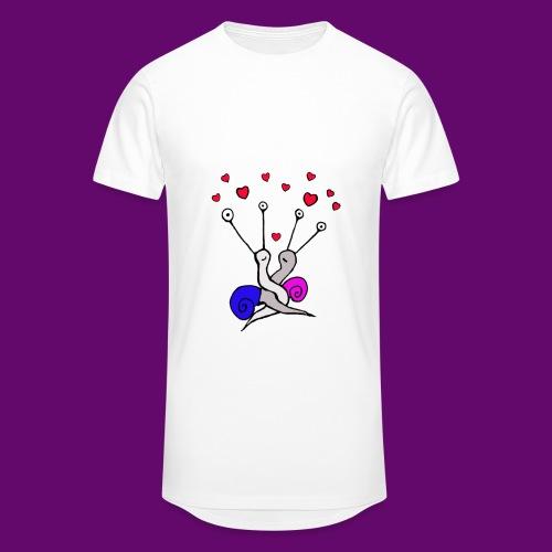 Escargot amoureux - T-shirt long Homme