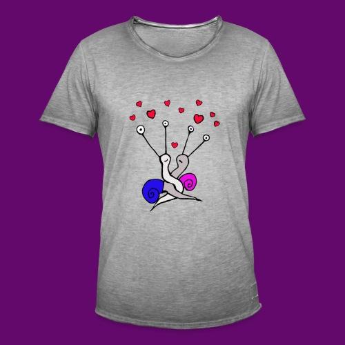 Escargot amoureux - T-shirt vintage Homme