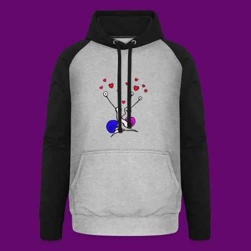 Escargot amoureux - Sweat-shirt baseball unisexe