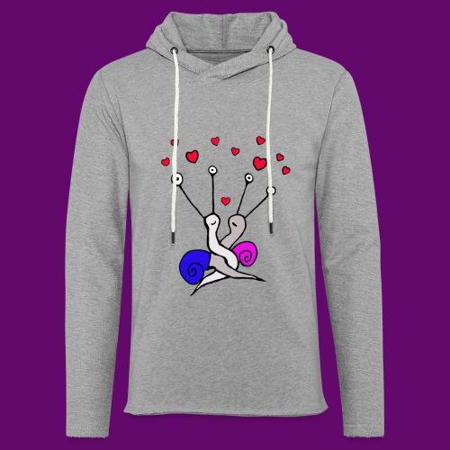 Escargot amoureux - Sweat-shirt à capuche léger unisexe