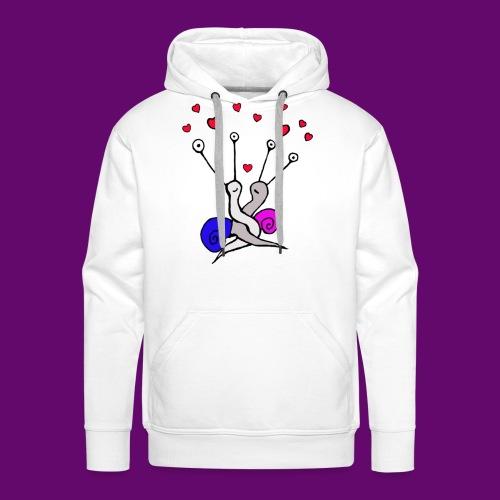 Escargot amoureux - Sweat-shirt à capuche Premium pour hommes