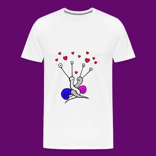 Escargot amoureux - T-shirt Premium Homme