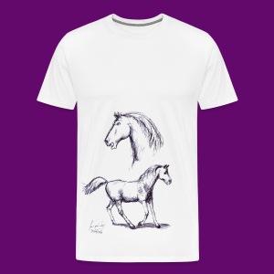 cheval de course - T-shirt Premium Homme