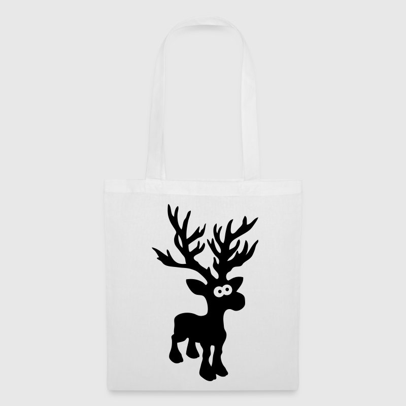 cute moose caribou reindeer deer christmas norway rudolph rudolf winter scandinavia canada Bags  - Tote Bag