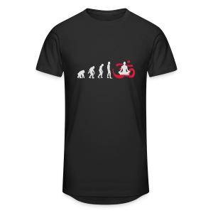 Evolution Yoga Buddhalainen meditaatio T-paidat - Männer Urban Longshirt