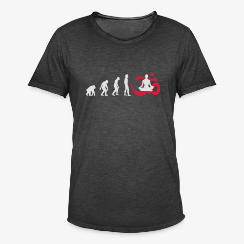 Evolution Yoga Buddhalainen meditaatio T-paidat - Männer Vintage T-Shirt