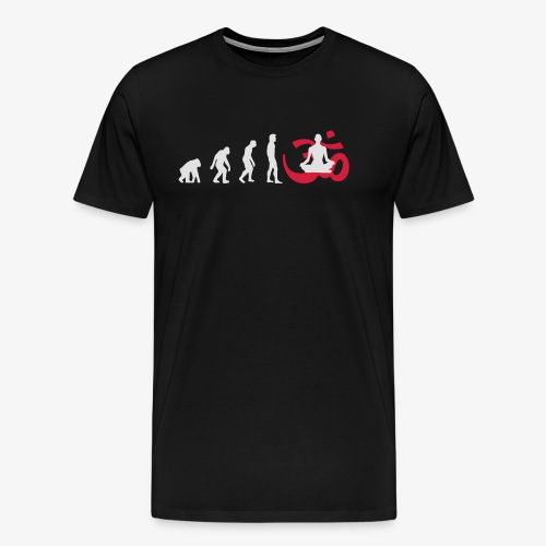 Evolution Yoga Buddhalainen meditaatio T-paidat - Männer Premium T-Shirt
