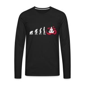 Evolution Yoga Buddhalainen meditaatio T-paidat - Männer Premium Langarmshirt