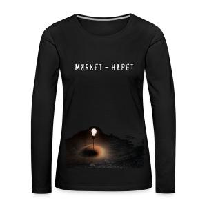 Mørket – Håpet, T-skjorte, Menn - Premium langermet T-skjorte for kvinner