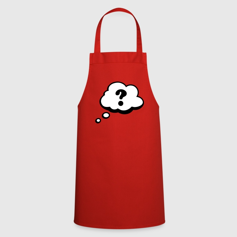 Comic speech bubble question mark  Aprons - Cooking Apron