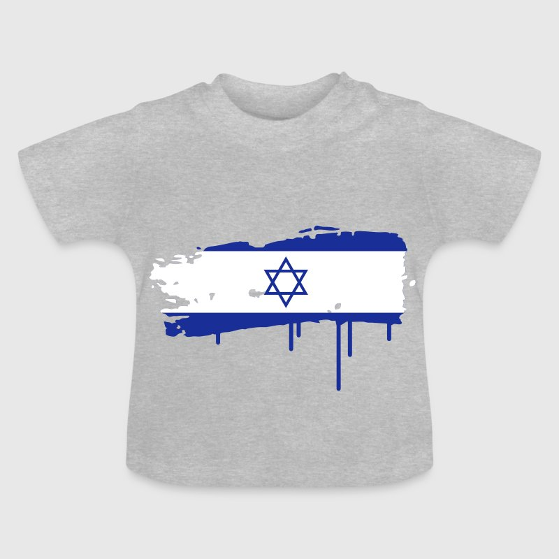 Israeli flag painted with a brush stroke Baby Shirts  - Baby T-Shirt