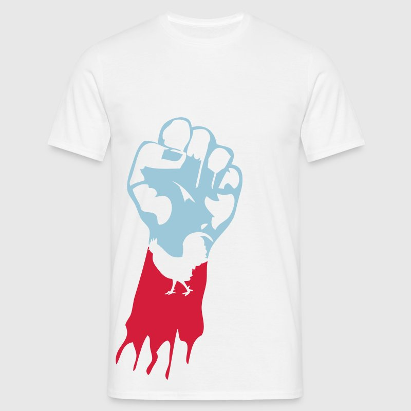 poing leve francais coq1 Tee shirts - T-shirt Homme
