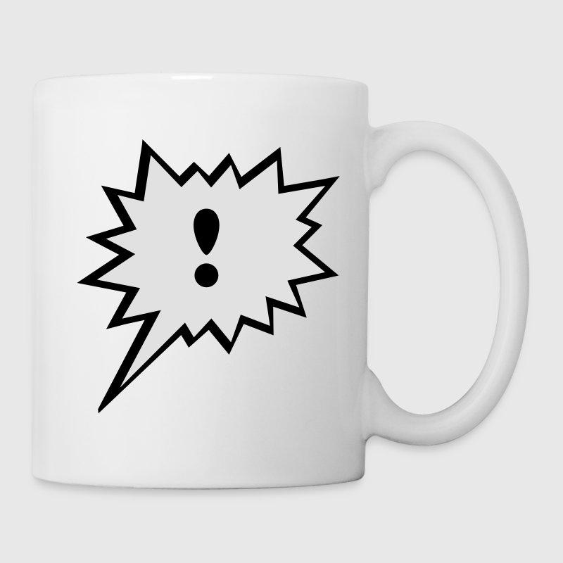 Comic Sprechblase  Ausrufezeichen Tassen - Tasse
