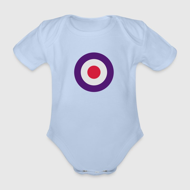 Mod Target United Kingdom Großbritannien Rollerfahrer Scooter Run Beatmusik Baby Bodysuits - Organic Short-sleeved Baby Bodysuit