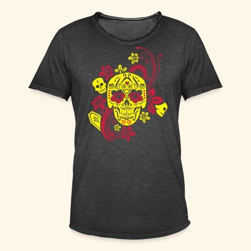 Calavera II, Cancun - Männer Vintage T-Shirt