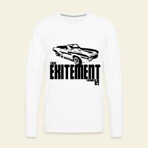 Pontiac Firebird Convertible '69 long  - Herre premium T-shirt med lange ærmer