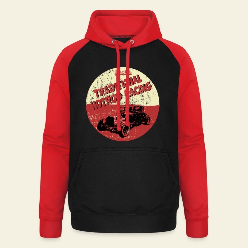Traditional hotrod racing sweater - Unisex baseball hoodie