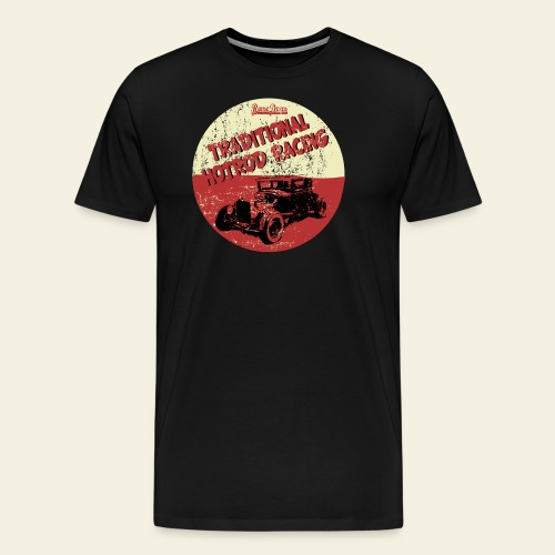 Traditional hotrod - Herre premium T-shirt