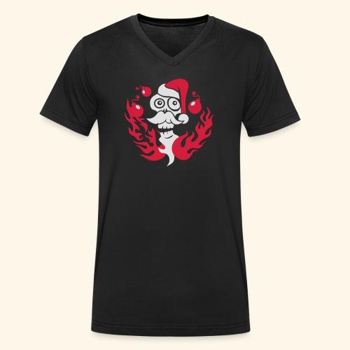 The Grim Santa - Männer Bio-T-Shirt mit V-Ausschnitt von Stanley & Stella