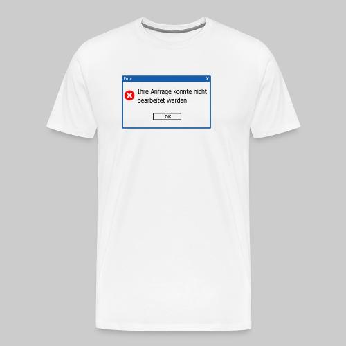 No Response (mit Rückseite) - Männer Premium T-Shirt