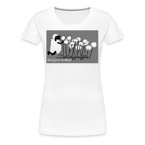 Wollgras im Moor - Frauen Premium T-Shirt
