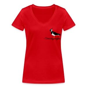 Kiebitz - Deichgräfin - Frauen Bio-T-Shirt mit V-Ausschnitt von Stanley & Stella