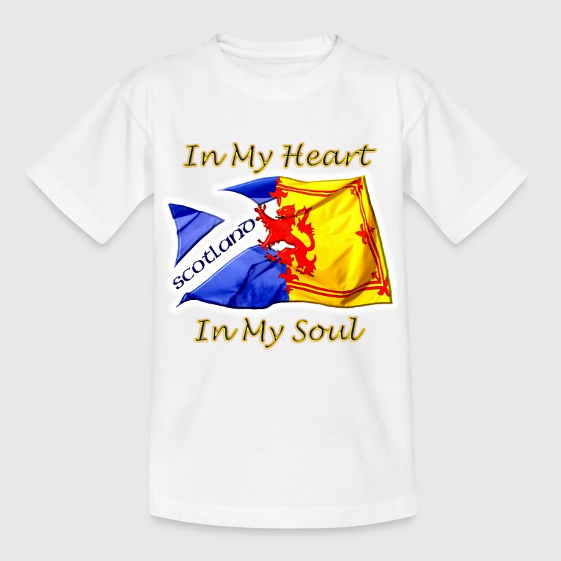 Scotland Heart and Soul Kids - Teenage T-shirt